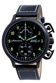 "Chronograph ""AChS-1"" by MOLNIA, stainless, black IP coated, ø47,5mm"