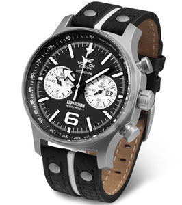 Chronograph EXPEDITION NORTH POLE 1 von VOSTOK EUROPE, Quarz, 200m wasserdicht, Edelstahl, ø47mm,
