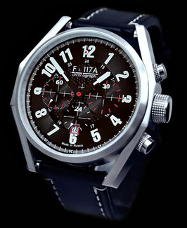 "Chronograph ""NIGHT HAWK"" by UMNYASHOV, hand-wound, stainless steel, polished, ø47mm"