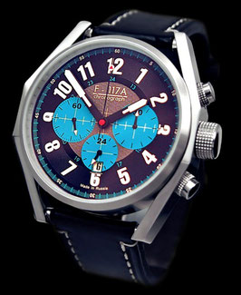 "Chronograph ""NIGHT HAWK"" von Umnyashov, Handaufzug, Edelstahl,poliert, ø47mm"