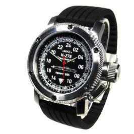 """""""Komsomolets K-278"""" - 24-Std.-Armbanduhr von TRIUMPH MIT VOSTOK - Werk, Handaufzug, Edelstahl, ø47mm"""