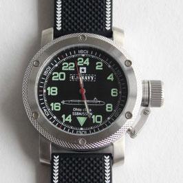 """""""US NAVY OHIO CLASS"""" - 24-Std.-Uhr von TRIUMPH MIT RAKETA - Werk, Edelstahl, ø47mm"""