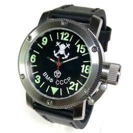 "24hr automatic watch ""Russian Navi"" by TRIUMPH, stainless steel, fein brushed, glass back, 100m waterproofed, ø47mm"