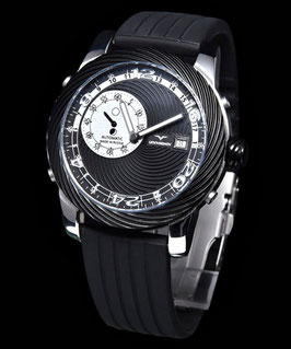 "Automatic 24hr watch ""SUBTERRENE"" by UMNYASHOV, sapphire crystal, stainless steel, Ø45mm"
