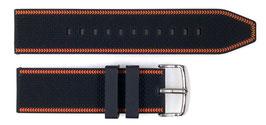 Silikon - Uhrarmband, 24mm, polierte Dornschließe