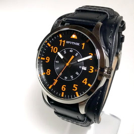 "Wrist pilots watch ""SPUTNIK"", quartz, stainless steel, polished, ø46mm"