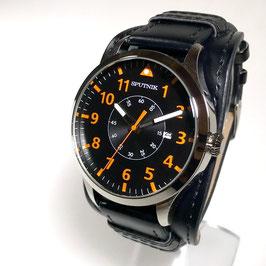 "Wristpilots watch""SPUTNIK"", quartz, stainless steel,polished, ø46mm"