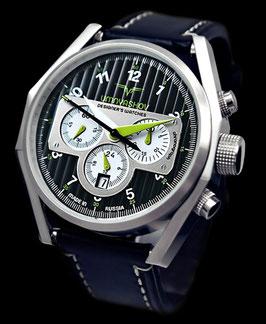 "Chronograph ""UMNYASHOV"" von UMNYASHOV, Handaufzug, Edelstahl, poliert, ø47mm"