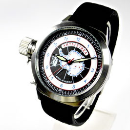 "Automatic watch ""ANTARCTICA"" by POLJOT SPUTNIK, stainless steel, brushed, ø45mm"