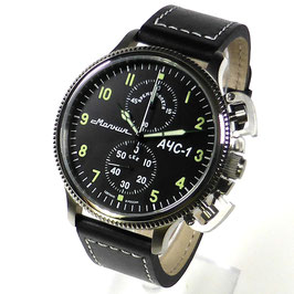 "Chronograph ""AChS-1"" by MOLNIA, stainless steel, polished, ø47,5mm"