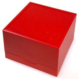 Originale Box für KOMANDIRSKIE und AMPHIBIA Uhren von der Uhrenmanufaktur VOSTOK, Kunststoff, rot, 2018