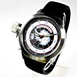 "Automatik Armbanduhr ""ANTARKTIKA"" von POLJOT SPUTNIK, Edelstahl, gebürstet, ø45mm"