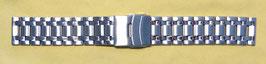 Edelstahlarmband 22mm 5-reihig, gebürstet, partiell poliert, Sicherheitsfaltschließe (Nr.891)