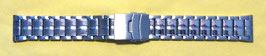 3-row stainless steel bracelet, 22mm, polished, partially brushed, with safety folding clasp (Nr.890)