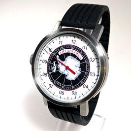 "Automatic one hand wrist watch ""NEW SPUTNIK 1957"", model ""ANTARCTICA""by POLJOT SPUTNIK, stainless steel, brushed, ø50mm"