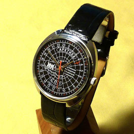 "Polar watch ""North Pole - 1"" 24hr watch by RAKETA, hand-wound, schwarz, metal hands,  ø39mm"