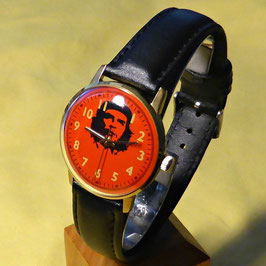 "Wrist watch ""CHE GUEVARA"" by RAKETA, hand-wound, gold coated, polished, ø34mm"
