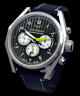"Chronograph ""UMNYASHOV"" by UMNYASHOV, hand-wound, stainless steel, polished, ø47mm"