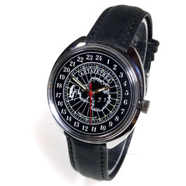 Russian 24hr watch ANTARCTICA  by TRIUMPH with VOSTOK movement, chrome plated, polished, ø39mm