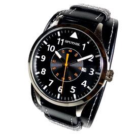 Armbanduhr SPUTNIK, Quarz, verchromt, poliert, ø46mm