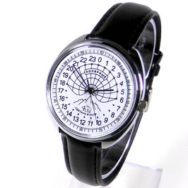 "Polar watch ""ARCTICA"" - 24hr-watch by RAKETA, , white, black hands, ø39mm"