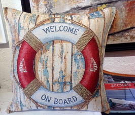 Coussin Welcome on board