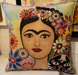 Coussin Frida Kahlo (chat)