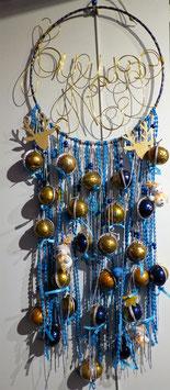 Calendrier de l'avent bleu et or