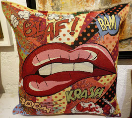 Coussin Pop'art lips