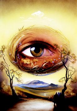 Kunstdruck - Das Auge