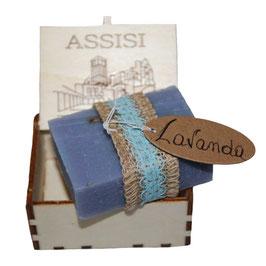 Saponette Lavanda in scatolette di legno