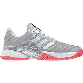 Adidas Damen Barricade, silber/pink, Allcourt