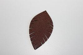 Lederanhänger  Blatt Choclate Braun Nr.19332