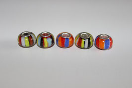 Großloch Beads Stripes