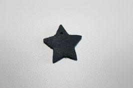 Lederanhänger Stern Vintage Blau