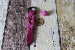 Schlüsselanhänger Fettleder Pink