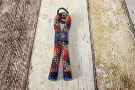 Schlüsselanhänger Pfote Blau/Orange/Sand