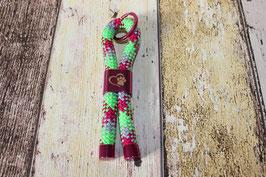 Schlüsselanhänger Pfote Pink/Kiwi