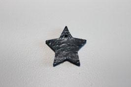 Lederanhänger Stern Blau