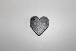 Lederanhänger Herz  Blau