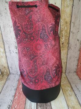 Handmade Seesack  Spitzenwerk Rot