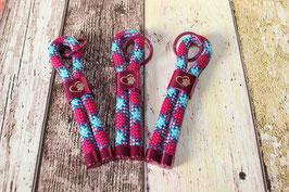 Schlüsselanhänger Pfote Pink/Türkis