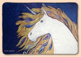 EINHORN~ENERGIE-KUSCHELDECKE | 100 x 150 cm | © By AGNYA HEALING ART