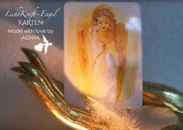 LICHTKRAFT~ENGEL-KARTEN | DIN A 6 | beidseitig hochglänzend | Set NACH WAHL | © bei AGNYA