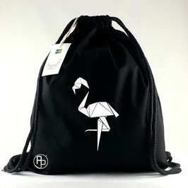 Turnbeutel / Gymbag geometrischer Flamingo