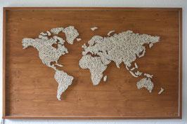Nagelbild Weltkarte