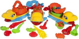 Bieco Sandspielzeug Fisch, 5-teilig, Strandspielzeug Strandset
