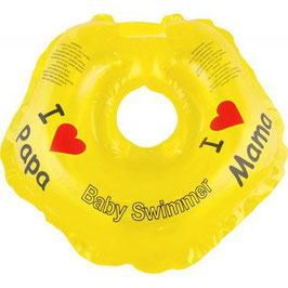 BabySwimmer  Badekragen 3-12 kg I Love Mama/Papa