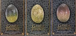 Game of Thrones Dracheneier 1/1 Life-Size 3er Set Drogon, Viserion, Rhaegal Statue 20cm Noble Collection
