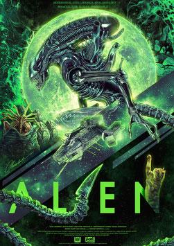 Alien Warrior Interface 42 x 30cm - ungerahmt Art Print Fanatik